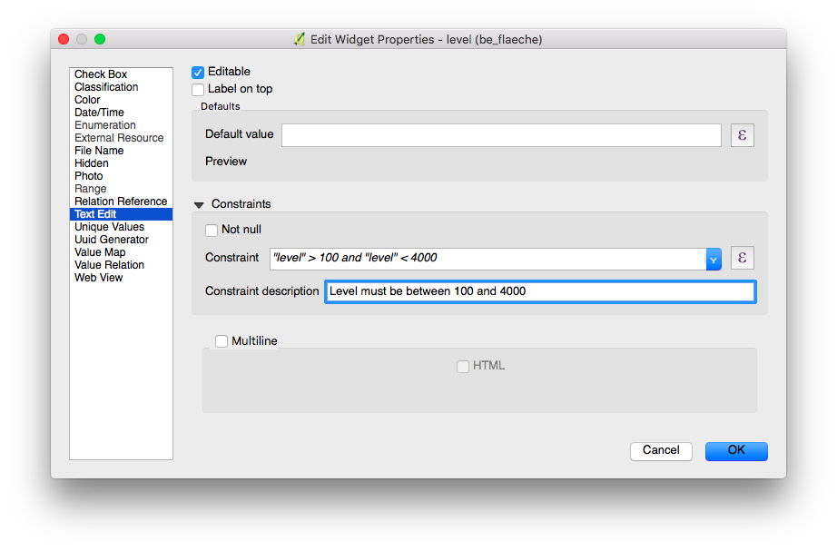 Vector Layer Settings — QField Documentation 1 0 - M